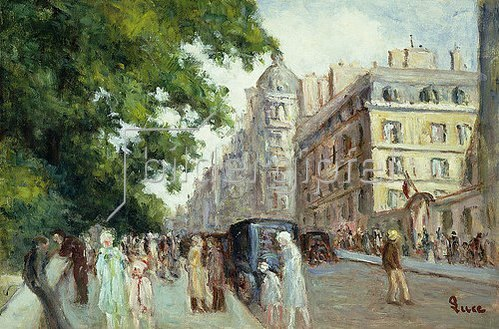 Maximilien Luce: Straßenszene in Paris. 1935-37
