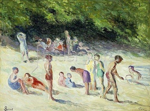 Maximilien Luce: Badende in Méricourt. 1935