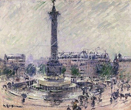 Gustave Loiseau: Paris, Place de la Bastille. Um 1922