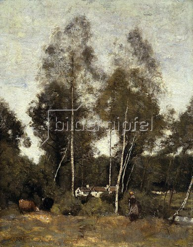 Jean-Baptiste Camille Corot: Waldlichtung bei Chateau-Thierry. Um 1855-65