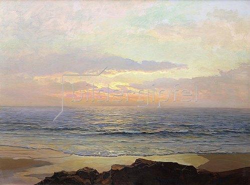 Frederick Judd Waugh: Sonnenuntergang über dem Meer.
