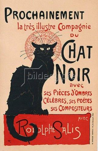 Théophile-Alexandre Steinlen: Die schwarze Katze (Le Chat Noir). Plakat für das Kabarett am Montmartre. 1896