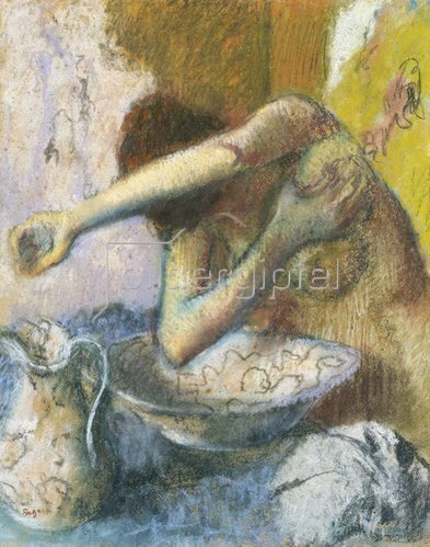 Edgar Degas: Junge Frau bei der Toilette. Um 1887