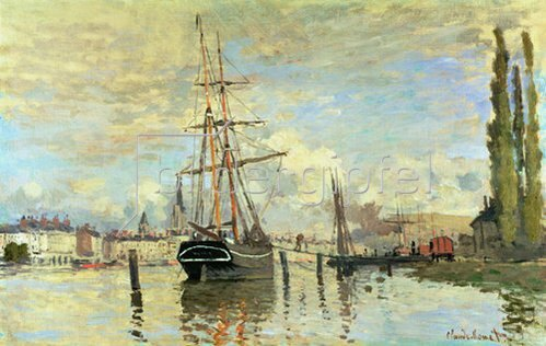 Claude Monet: Die Seine in Rouen. 1874.