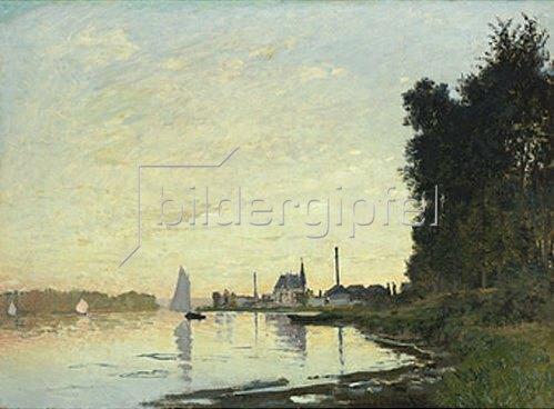 Claude Monet: Argenteuil, Fin d'Apres-Midi. 1872