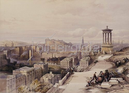 Joseph Mallord William Turner: A View Of Edinburgh. From 'Scotland Delineated In A Series Of Views'. Herausgegeben 1847-1854