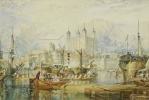 Joseph Mallord William Turner: The Tower of London. Um 1825