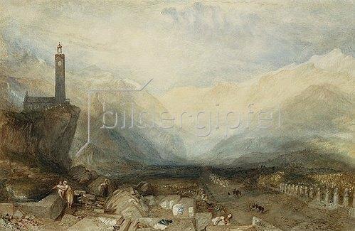Joseph Mallord William Turner: The Splugen Pass. / Der Splügenpass. Um 1842-43