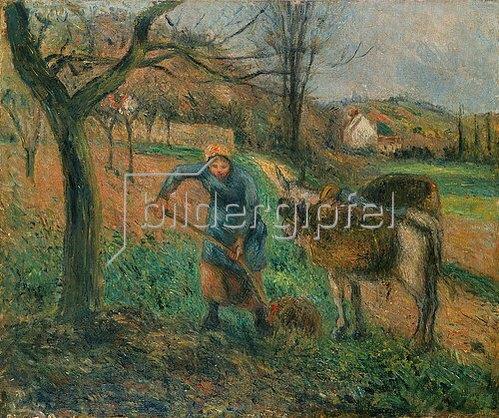 Camille Pissarro: Bauersfrau mit Esel, Pontoise.