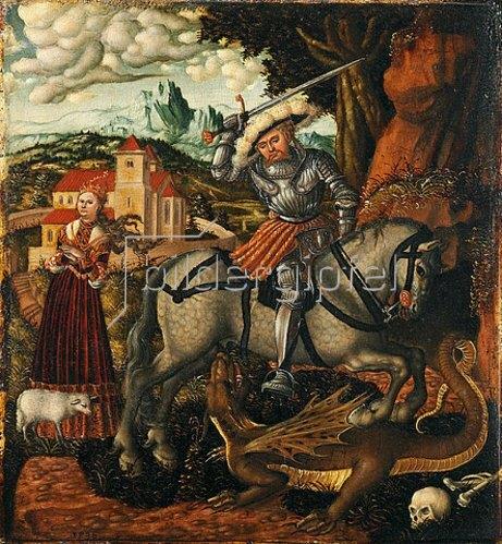 Lucas Cranach d.Ä.: Georg im Kampf. 1536.