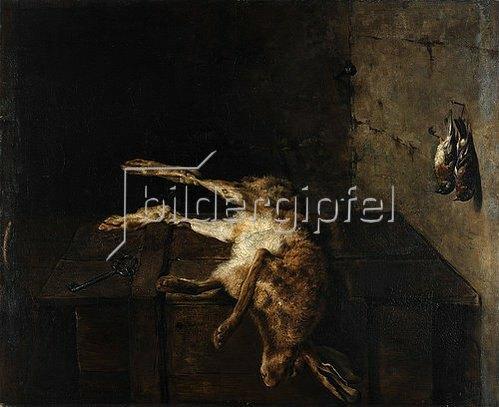 Antoine Marie Girot: Stillleben mit totem Hasen.