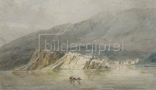 Joseph Mallord William Turner: Ansicht von Sestri die Levante, Genua (Wahrscheinlich eine Kopie nach einer Skizze von John Roberts Cozens). Um 1794/95