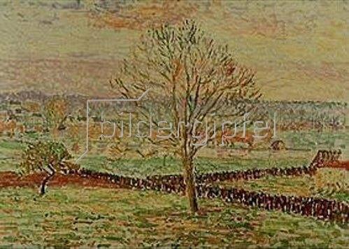 Camille Pissarro: Überschwemmung in Bazincourt im Sonnenlicht.