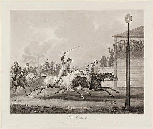 Jean-Pierre-Marie Jazet: La Course (nach Carle Vernet).