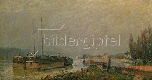 Alfred Sisley: Am Ufer der Seine. 1879