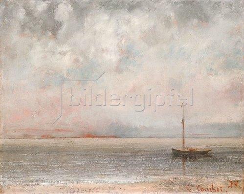 Gustave Courbet: Wolken am Genfersee (Nuages sur la Lac Leman). 1875