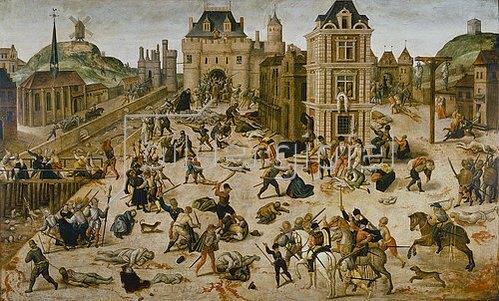 François Dubois: Bartholomäusnacht, 24. 8. 1572 (Tod des Admiral Gaspard II von Coligny)