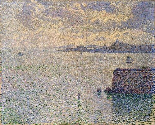 Theo van Rysselberghe: Hafen von Roscoff in Finistère, Bretagne. Um 1887