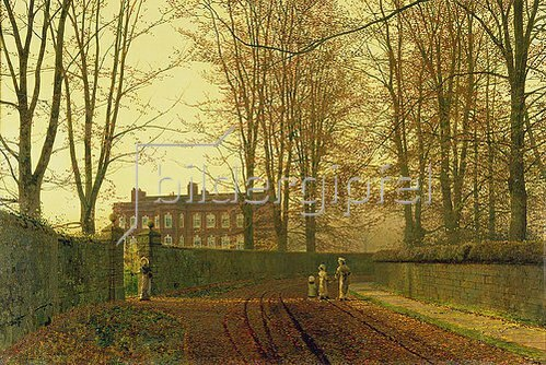 John Atkinson Grimshaw: Herbstlicher Kirchgang. 1888