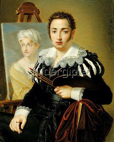 Guglielmo Faija: Ein junger Künstler (vielleicht ein Selbstporträt). 1825