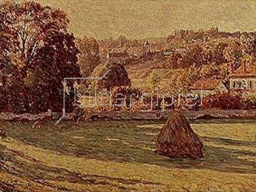 Henri Lebasque: Morgendliche Felder am Rand eines Dorfes 1900.