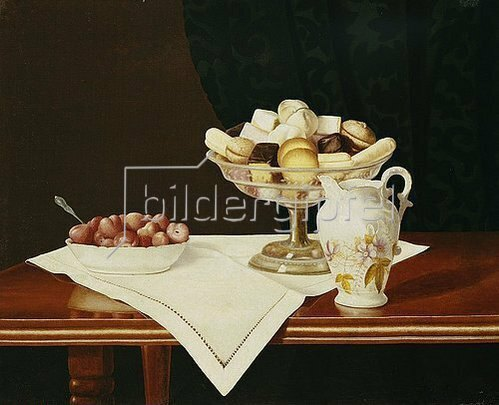 George Cope: Stillleben mit Süßigkeiten und Erdbeeren. 1903