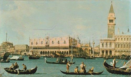 Canaletto (Giov.Antonio Canal): Venedig, Dogenpalast und Marcusplatz vom Bacino di San Marco.
