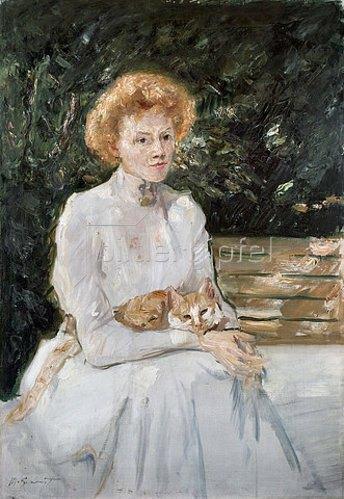 Max Slevogt: Dame mit Katze. 1902