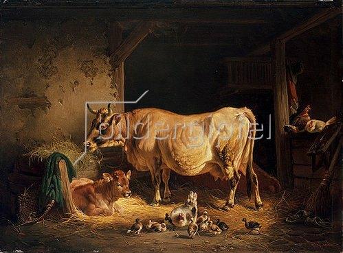Johann Friedrich Voltz: Gute Nachbarn. 1850