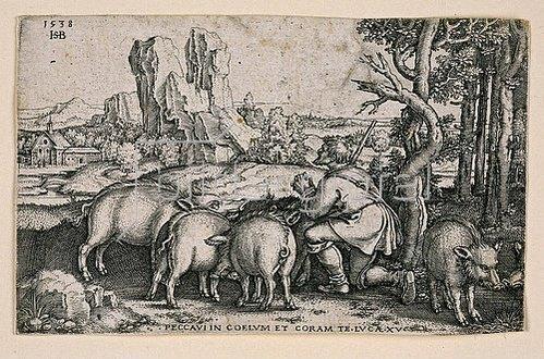 Sebald Beham: Der verlorene Sohn. 1538