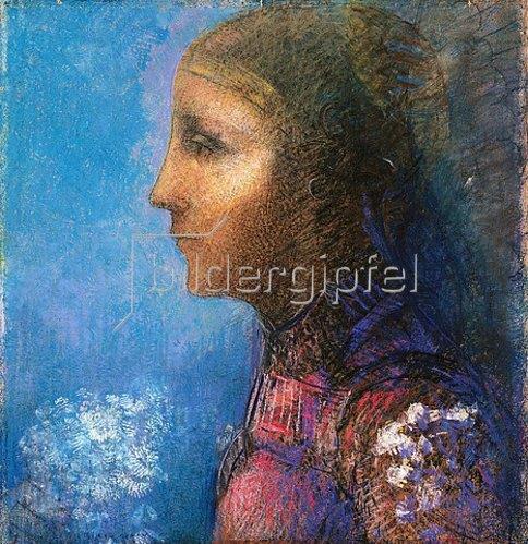 Odilon Redon: Profile: Le Drapeau.