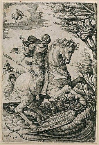 Daniel Hopfer: Der Heilige Georg im Kampf mit dem Drachen. 1520