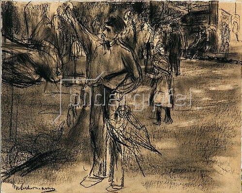 Max Liebermann: Der Papageienmann. 1901