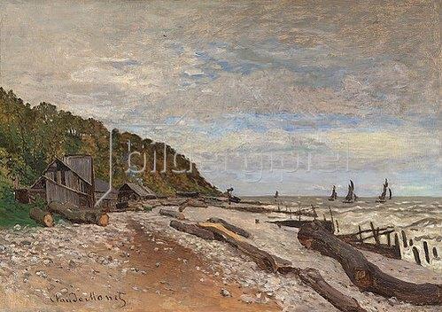 Claude Monet: Werft für kleine Boote, nahe Honfleur (Le Chantier de petits navires, près de Honfleur). 1864