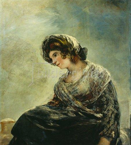 Francisco José de Goya: Das Milchmädchen von Bordeaux. Um 1825-27