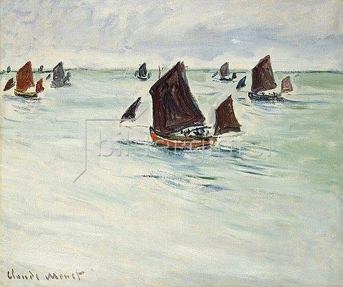 Claude Monet: Fischerboot auf dem Large de Pourville (Bateaux de Pêche au Large de Pourville). 1882