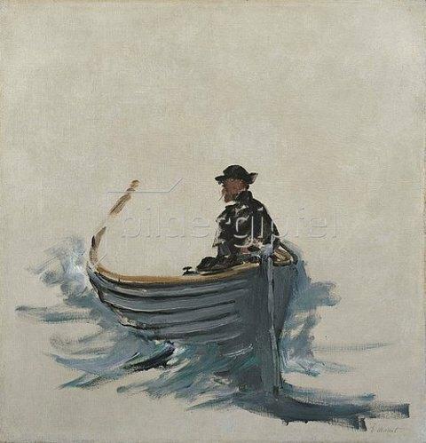 Edouard Manet: Studie für 'Rocheforts Flucht'  (Etude pour l'Evasion de Rochefort). 1881