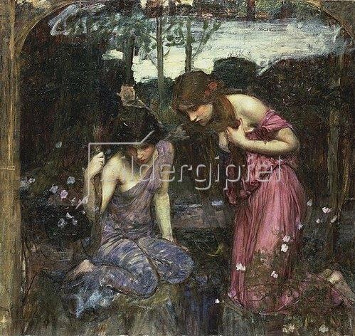 John William Waterhouse: Nymphen finden den Kopf des Orpheus (Skizze).