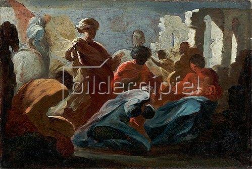 Giacinto Brandi: Die Anbetung der Könige (Farbskizze). 17. Jh.