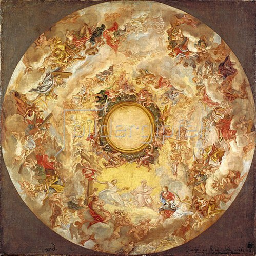 Giovanni Battista (gen. Baccicio) Gaulli: Die Aufnahme der hl. Agnes in den Himmel. Nach 1689