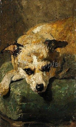 Hans von Marées: Kopf eines Hundes. Um 1862