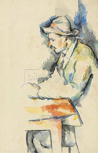 Paul Cézanne: Kartenspieler (Joueur de cartes). 1892-96