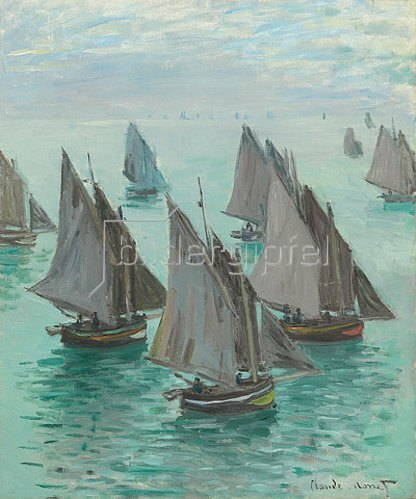 Claude Monet: Fishing boats in calm weather (Bateaux de pêche, temps calme.) 1868
