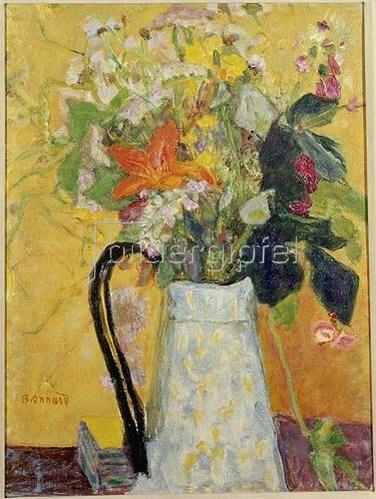 Pierre Bonnard: Blumenstrauß in weißem Krug.