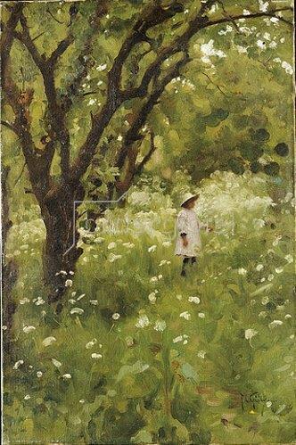 Thomas Cooper Gotch: Der Obstgarten.