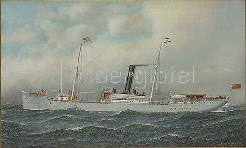 Antonio Nicolo Gasparo Jacobsen: Olympia Steamship. 1898