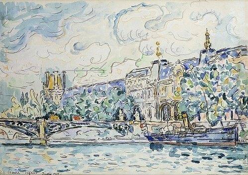 Paul Signac: Le Palais du Louvre. Juli 1910