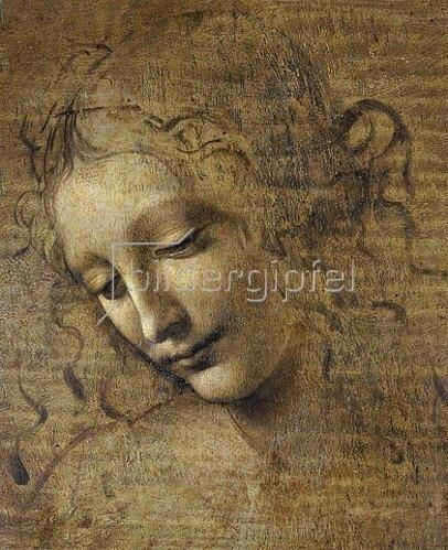 Leonardo da Vinci: Kopf eines Mädchens. 15. Jh.