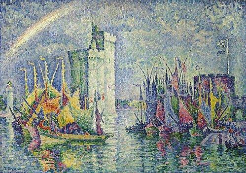 Paul Signac: Regenbogen über dem Hafen von La Rochelle (Arc-en-ciel, La Rochelle, le Port). 1912