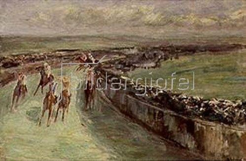 Max Liebermann: Pferderennen. 1914.